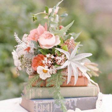 Decora tu boda con…¡LIBROS!